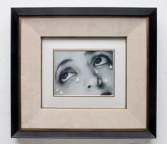 Photo-collage: Crystal tears after Man Ray (2006) by Nicola Costantino / Collage: Black and white photography, Crystal