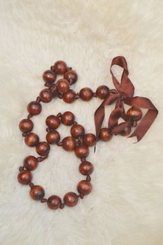 Wooden Bead Necklace ...... from magpiekelly