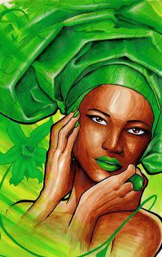 It's a green wrap by Tonderai. check out my wrap... http://tiffinyreynoldswrap.myitworks.com