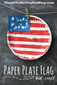Paper Plate Flag {Kid Craft}