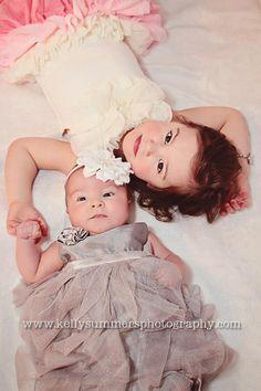Big Sister and Baby Sister pose