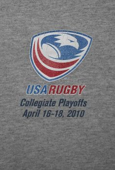 USA Rugby 2010 Division 1 Collegiate Playoffs T-Shirt Adult Size XL Gray  #Gildan