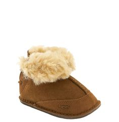 UGG® Australia 'Boo' Bootie (Baby & Walker) at Nordstrom.com. Elastic-cord faux-lacing in back adorns a shearling-lined bootie, keeping little feet warm and dry.