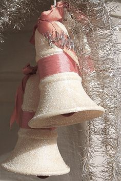 Pink and White Christmas Bells