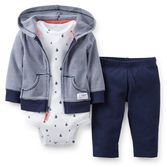 What a great value! This hooded cardigan set has everything your baby boy needs for an easy outfit. Zip-front cardigan and pants pair with our essential bodysuit for and easy outfit that just right for fun or play.