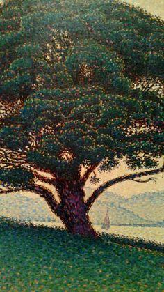 The Bonaventure Pine (Paul Signac). Monet, Landscape Art, Landscape Paintings, Aboriginal Dot Art, Georges Seurat, Post Impressionism, Natural Scenery, Museum Of Fine Arts, French Art