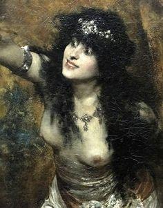 'Samson' (1887) → Solomon Joseph Solomon - 1860/1907 - British painter. #solomon joseph solomon#samson#paintings#oil on canvas#pintoresbritanicos#arte#pinturas