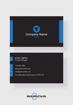 free stylish black business card template businesscard