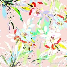New on Patternbank   Abstract Bright Floral