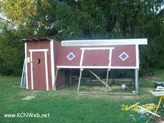 Chicken Coop Swingset. With the nations food supply going south, this is a great idea for an old swingset.