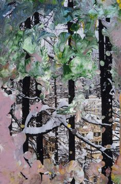 Gerhard Richter. Lacquer on color photograph.