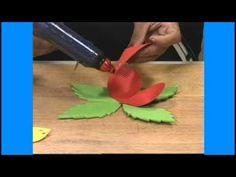 Artesanato em Borracha EVA - Como Fazer Flor em EVA - Cursos CPT - YouTube