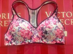 Womens Victoria's Secret Pink Yoga Push Up Sports Bra   eBay