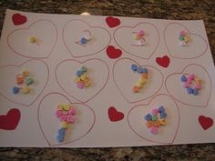 counting candy hearts