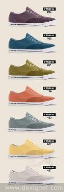 New sneakers in vintage Pantone collors