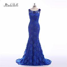 Eleganta långa Royal Blue Evening Dresses 2016 Moderna Aftonklänningar  Modest Formella Natt Klänningar för Kvinnor Vestido f905c68976855