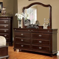 Eccentric Wooden Dresser In Transitional Style, Brown Cherry By Casagear Home Cheap Furniture, Online Furniture, Furniture Decor, Furniture Sets, Bedroom Furniture, Kitchen Furniture, Furniture Websites, Inexpensive Furniture, Classic Furniture