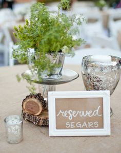 WeddingChannel Galleries: Table Names and Centerpieces