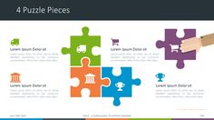 Större - Multipurpose PowerPoint Template - 4 Puzzle Pieces Diagram