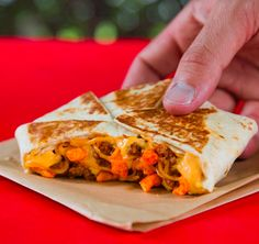 Beefy Cheddar Cheetos Crunchwrap Slider at Taco Bell in Canada: | 29 Fast Food Items That The U.S. Needs To Get Immediately