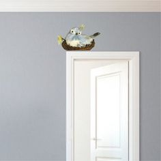 Cute Nesting Bird Wall Decal - Bird Wall Decal - Nest Wall Decal Mural - Removable Bird Wall Designs - Nursery Bird Wall Decor | Primedecals