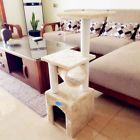 """36"""" Cat Tree Condo Furniture Kitten Pet Play W/Toy House Scratching Post Beige"""