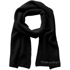 Chanel Black Cashmere Stole (2,750 PEN) ❤ liked on Polyvore featuring accessories, scarves, nocolor, chanel, cashmere scarves, long shawl, long scarves and oblong scarves