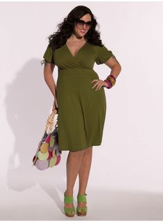 Angie Dress in Olive... I can't wear this color (I'm a summer) but I love it anyway!
