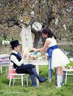 Alice in wonderland wedding alice in wonderland wedding, whimsica Wedding Photoshoot, Wedding Shoot, Dream Wedding, Wedding Ideas, Wedding Stuff, Mad Men Party, Alice In Wonderland Tea Party, Themed Outfits, Whimsical Wedding