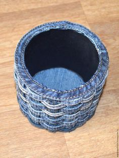 Neat woven jeans cup - no sew!