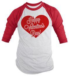 Custom Party Shop Kids Be Mine Happy Valentines Day Red Raglan