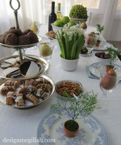 Design Megillah: Tu B'Shevat Seder Table - I want to do this but never remember in time!!