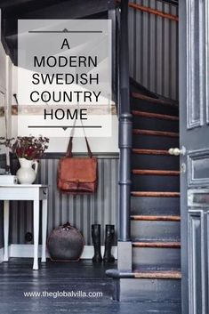 Take a peak at the charming country style home of freelance writer and photographer Emma Johansson. Swedish Interiors, Swedish Style, Stairway To Heaven, Country Style Homes, Stairways, Nest, Writer, Decor Ideas, Decorations