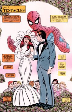 These two have been through alot through out the history of Spider-man and are easily in my opinion the best couple in comics. Stan Lee Spiderman, Spiderman Art, Amazing Spiderman, Comic Book Covers, Comic Books, Mary Jane Watson, Spider Verse, Comic Page, American Comics