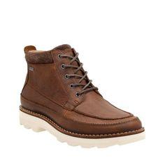 e9ddc84a039c Korik Rise GTX Tobacco Leather mens-gore-tex-boots Clarks Boots