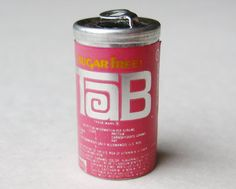 Vintage Tab Diet Cola Soda Pop Can Miniature by SoCalJewelBox