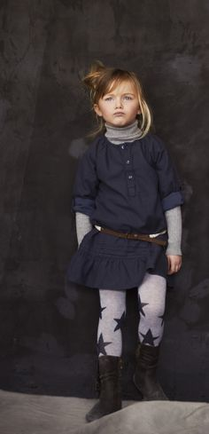 ultra chic layers and star tights.  #designer #kids