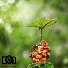 We welcome Ganesha and his shower of blessings for new beginnings and a reminder of the circular nature of life. Ganesh Chaturthi Decoration, Happy Ganesh Chaturthi Images, Shri Ganesh Images, Ganesha Pictures, Clay Ganesha, Ganesha Art, Ganesh Idol, Lord Ganesha Paintings, Lord Shiva Painting