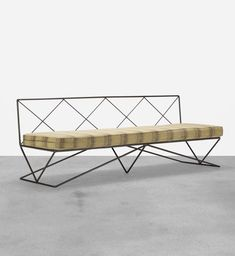 Darrell Landrum; Enameled Steel Sofa for Avard, 1950s.