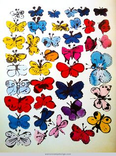 See how Andy Warhol turned regular photos into beautiful pieces of pop art. Illustration Papillon, Butterfly Illustration, Illustration Art, Andy Warhol Pop Art, Andy Warhol Drawings, Andy Warhol Prints, The Artist, Cultura Pop, Fashion Books