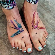 Watercolor Swallows by Simona Blanar