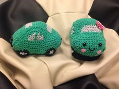 crocheted cars
