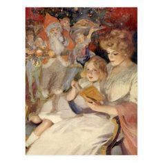 Natal vintage, história de horas de dormir da cartão postal