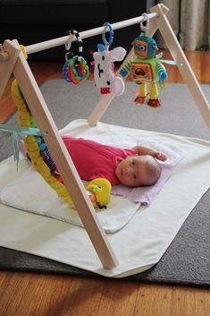Foldable homemade baby gym