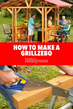 Grill Gazebo Plans: Make a Grillzebo! gazebos Grill Gazebo Plans: Make a Grillzebo! Grill Gazebo, Diy Gazebo, Gazebo Plans, Gazebo Ideas, Grill Canopy, Backyard Projects, Outdoor Projects, Outdoor Decor, Diy Projects