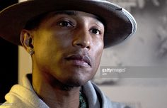 US singer Pharrell Williams poses during an interview before performing at the Montreux Jazz Festival on July AFP PHOTO / Richard Juilliart Get premium, high resolution news photos at Getty Images Montreux Jazz Festival, July 7, Pharrell Williams, Interview, Singer, Poses, Image, Singers