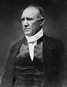 "Sam Houston - governor of Tennessee at age 36; marshaled the army that won Texas independence; President of the Republic of Texas; U.S. Senator for the State of Texas and Governor of the State of Texas when the civil war began.  Because of his ardent defense of the Union and refusal to swear allegiance to the Confederacy, he was deposed as governor in 1861 and vilified by Texans when he died of pneumonia in 1863.  His last dying words to his wife Margaret, ""Texas, Margaret ... Texas."""