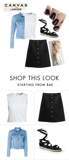 """""""Paint Your Look With Canvas by Lands' End: Contest Entry"""" by letty-solly ❤ liked on Polyvore featuring Lands' End, Canvas by Lands' End, Monki and Acne Studios"""