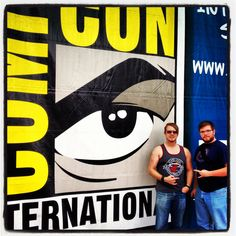 Me and my brother with our traditional shot in the front of the convention center. Good times.