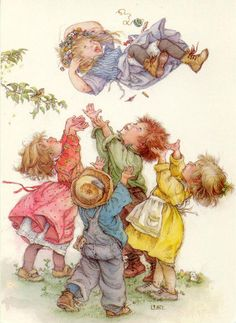 :: Sweet Illustrated Storytime :: Illustration by Lisi Martin :: Tinkerbell Sarah Kay, Spanish Artists, Vintage Greeting Cards, Children's Book Illustration, Vintage Pictures, Vintage Children, Clipart, Cute Art, Vintage Art